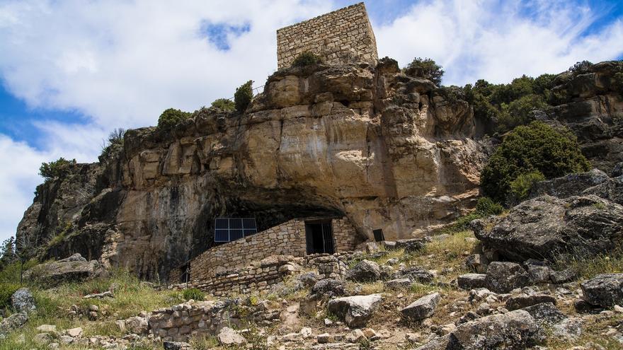 Cueva de Los Casares, en La Riba de Saelices (Guadalajara)