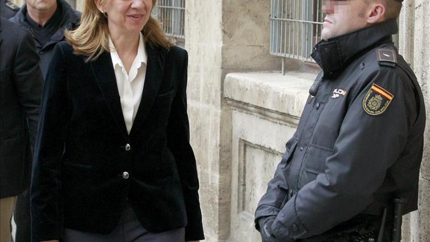Receso en la declaración de la infanta Cristina tras 2 horas en el juzgado de Palma