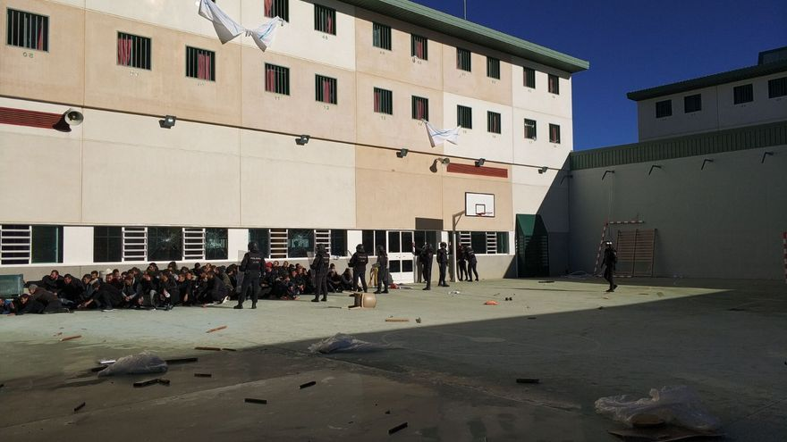 Imagen del interior de la cárcel CIE de Archidona este miércoles