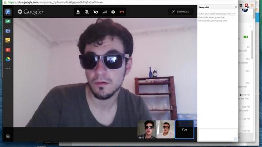 El joven emprendedor español Pablo Villalba, durante un Hang out de Google (Foto: Pablo Villalba)