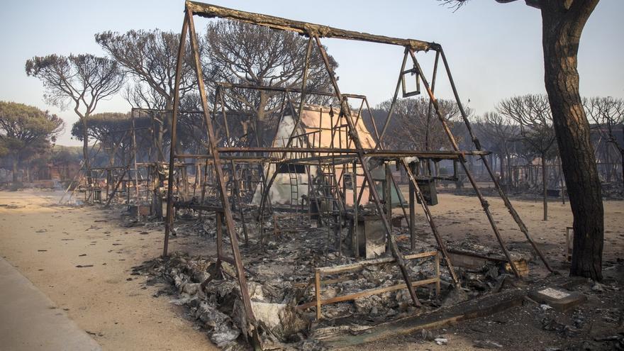 Comienzan este lunes las obras de emergencia para restaurar la zona quemada en el incendio de Moguer