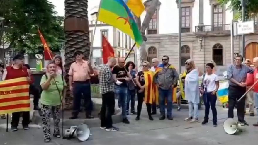 Concentración en el Parque de San Telmo contra la sentencia del 'procés'.