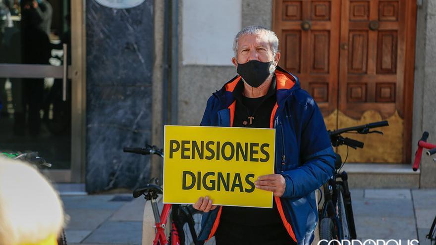 La Plataforma Ciudadana para la Defensa del Sistema Público de Pensiones se concentra para defender las pensiones |ALEX GALLEGOS