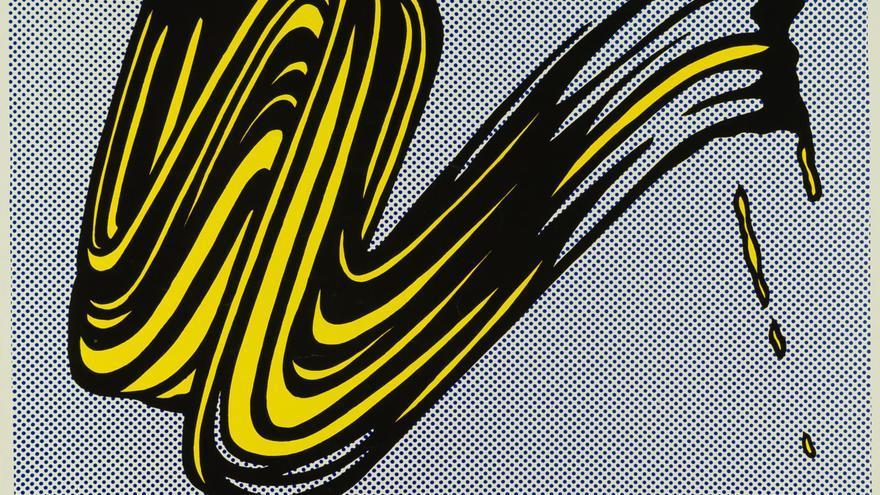 Brushstroke, 1965 © Estate of Roy Lichtenstein, VEGAP, Madrid, 2018