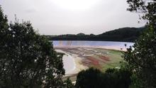 Imagen de archivo de La Laguna de Barlovento del pasado 31 de enero solo al 5% de su capacidad.