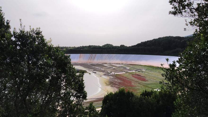 Imagen de La Laguna de Barlovento que, al 31 de enero, se encontraba solo al 5% de su capacidad.