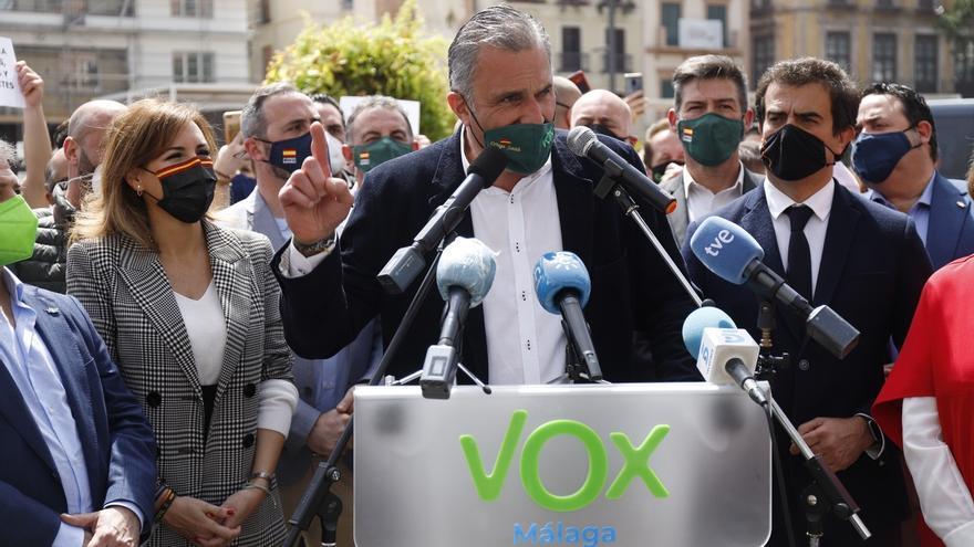 Javier Ortega Smith, secretario general de Vox, en rueda de prensa