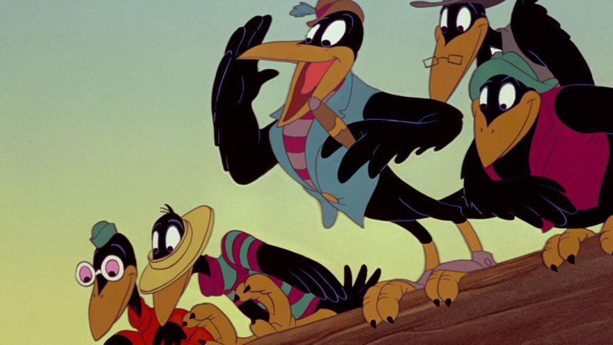 Los cuervos de 'Dumbo' y su líder Jim, una referencia a las denominadas leyes Jim Crow que permitieron la segregación racial hasta 1965