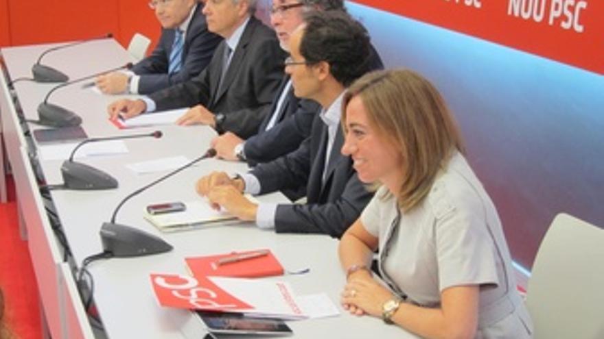 J.Montilla, P.Navarro, A.Balmón, F.Vallès Y C.Chacón, PSC
