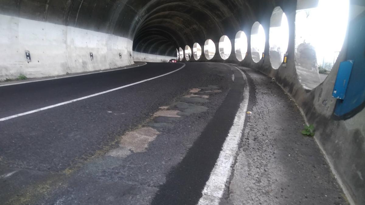 Estado del túnel de Martiánez, que será reasfaltado