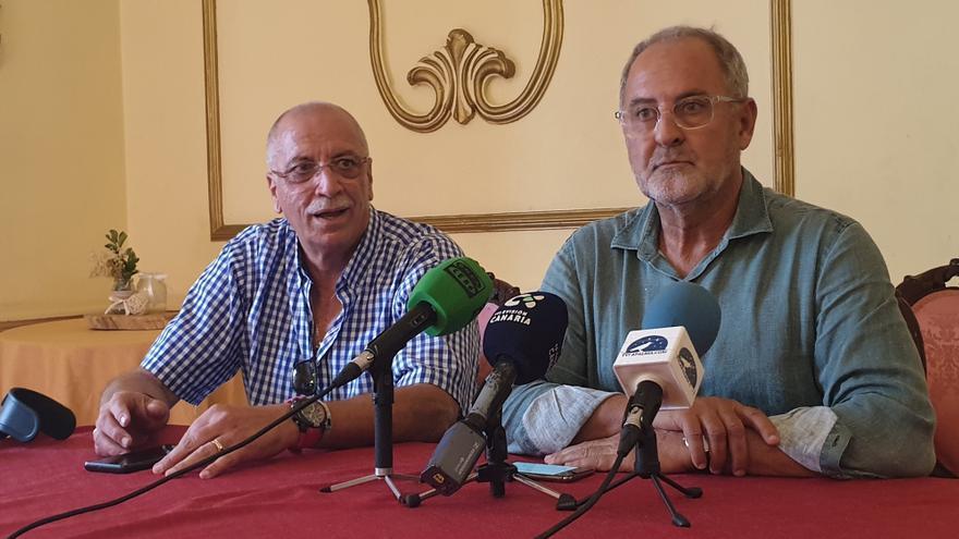 Elías Castro (d) y Alonso Lugo en la rueda de prensa.