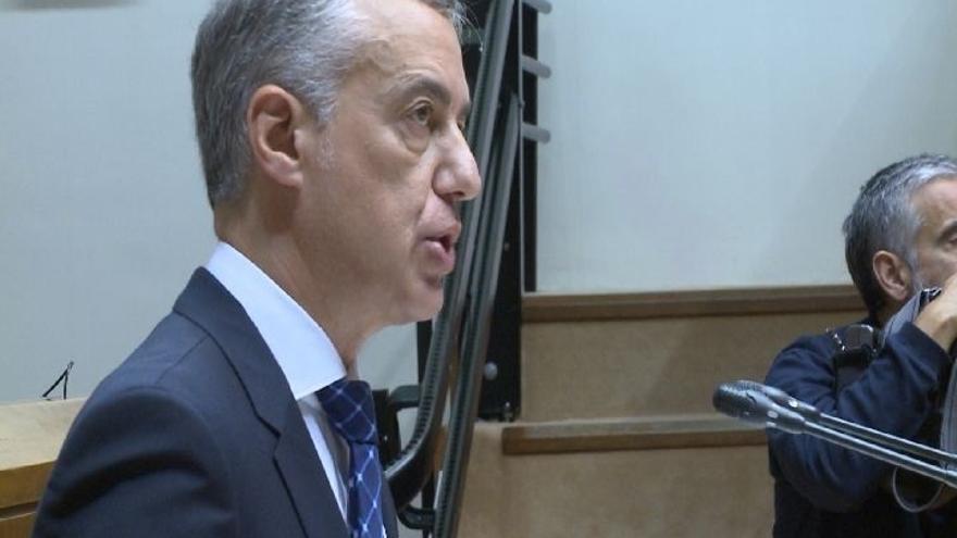 """Urkullu reitera su apuesta por el diálogo y la mediación para abordar la """"legítima"""" aspiración de independencia catalana"""