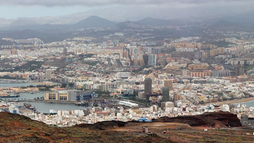 Panorámica de Las Palmas de Gran Canaria desde La Isleta