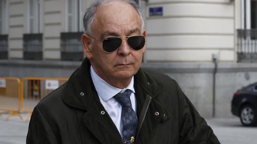 El ex número dos de la Policía Eugenio Pino, a su salida de la Audiencia Nacional