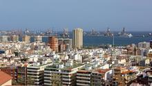 Las Palmas de Gran Canaria desde el barrio de San Antonio