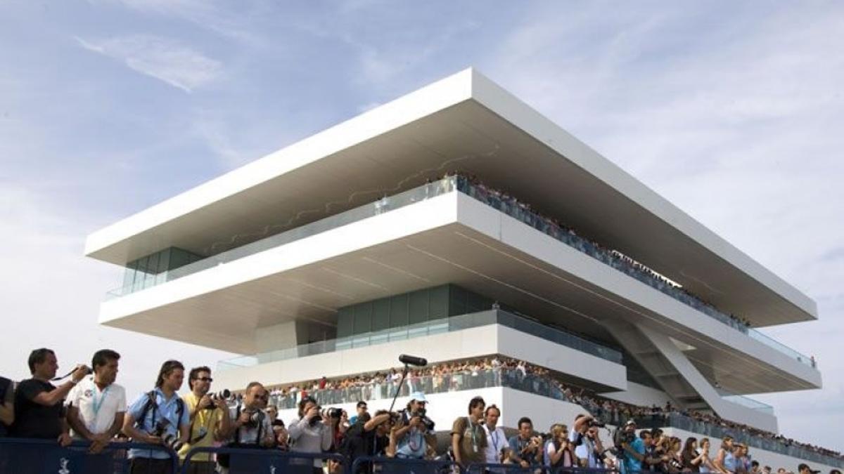 El edificio Veles e Vents durante la Copa del América de 2007.