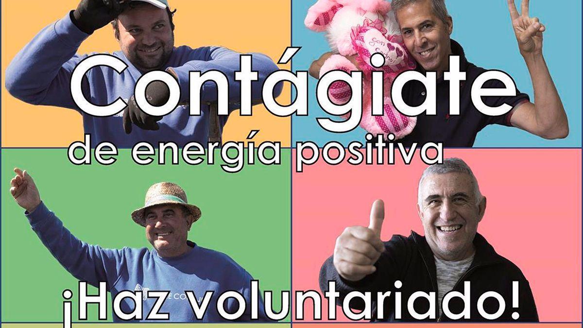 Cartel de la ONG Madre Coraje para buscar voluntarios.