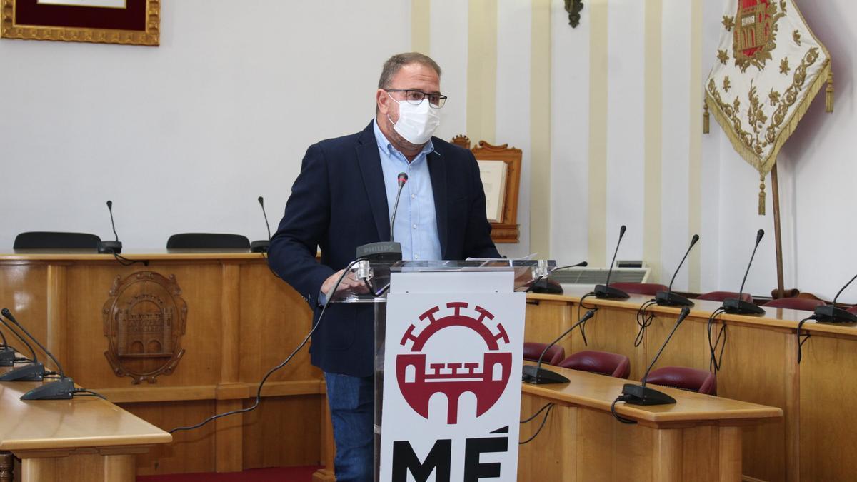 El alcalde de Mérida, Antonio Rodríguez Osuna, este jueves