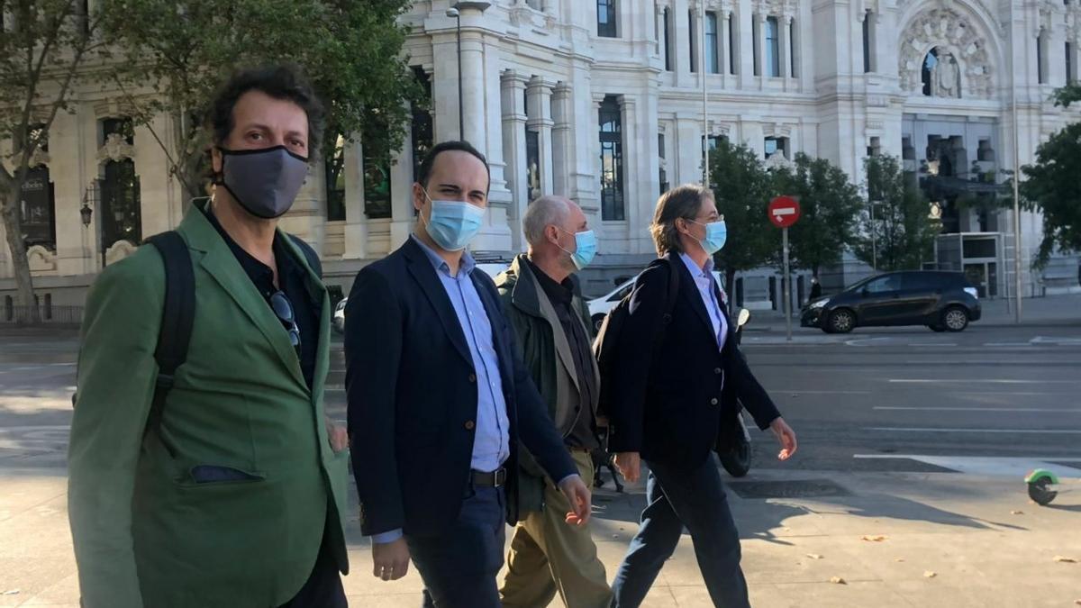 Felipe Llamas, José Manuel Calvo, Luis Cueto y Marta Higueras.
