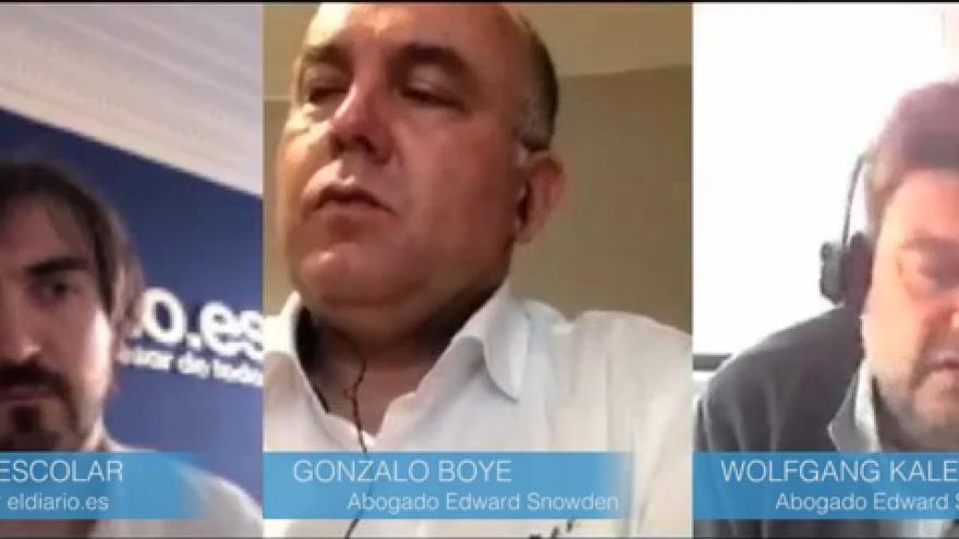 Entrevista Gonzalo Boye y Wolfang Kaleck, abogados de Edward Snowden