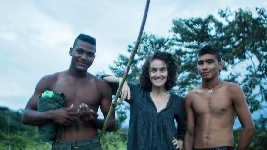 Catalina Martin-Chico en su primer viaje a las zonas veredales en 2017