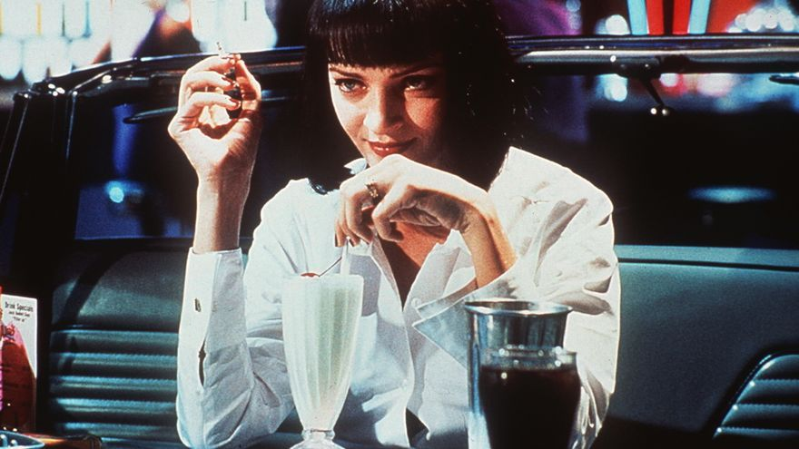 "La actriz Uma Thurman en una secuencia de la película ""Pulp Fiction"", del director Quentin Tarantino."