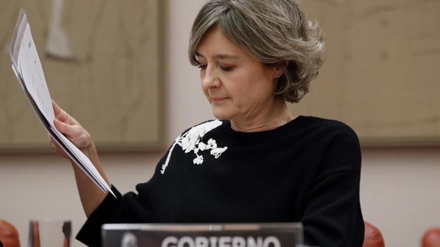 La exministra García Tejerina, en una comparecencia en el Congreso