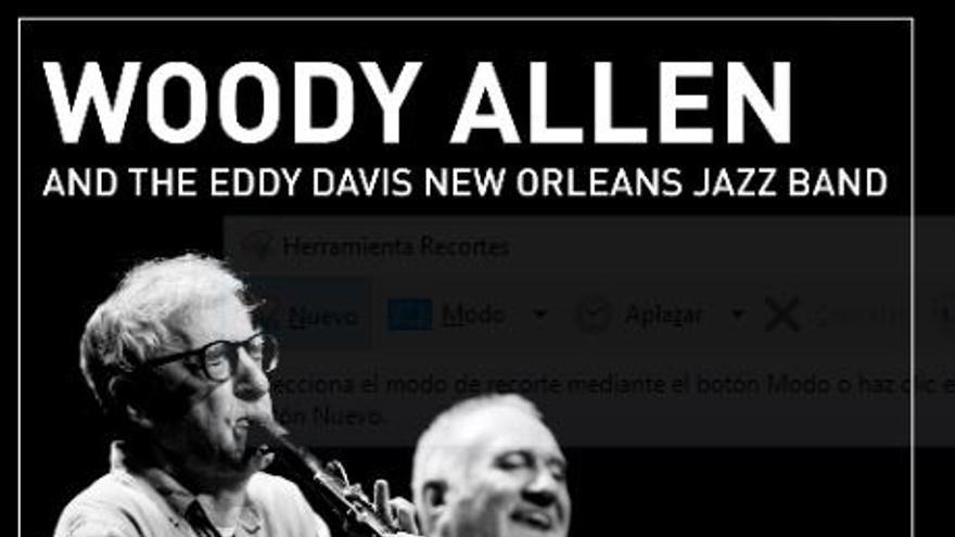 Woody Allen actuará en el palacio Euskalduna de Bilbao con su banda de jazz el 16 de junio