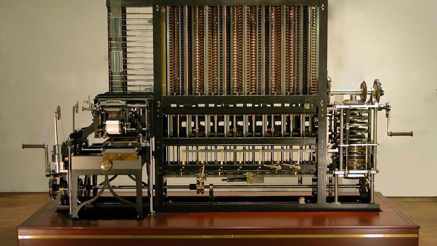 Este es el aspecto de la máquina diferencial nº 2, conservada en el Museo de Ciencias de Londres
