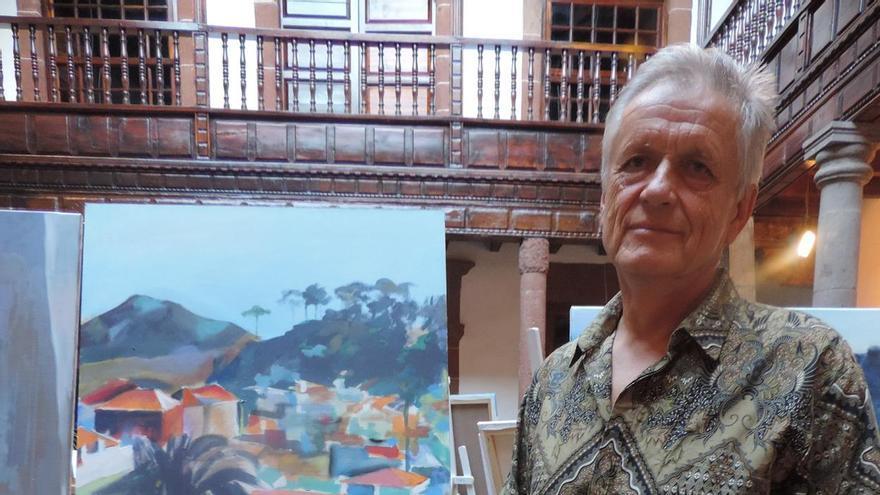 Alexej Dvorak, ganador el X Concurso de Pintura Rápida 'Francisco Concepción'.