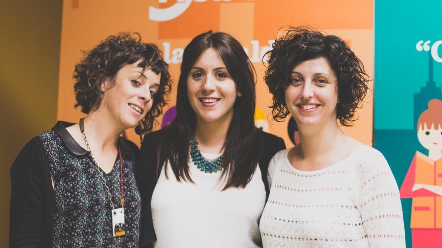 De izquierda a derecha, Nieves Roche, Marta Esteban y Marta Lapuente, equipo directivo de Tiebel