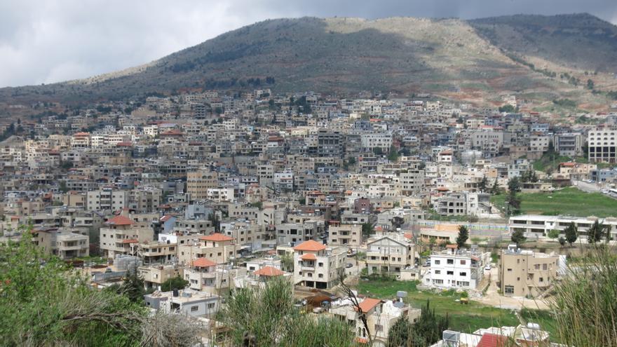 Majdal Shams, la principal ciudad siria -mayoritariamente drusa- de los Altos del Golán.