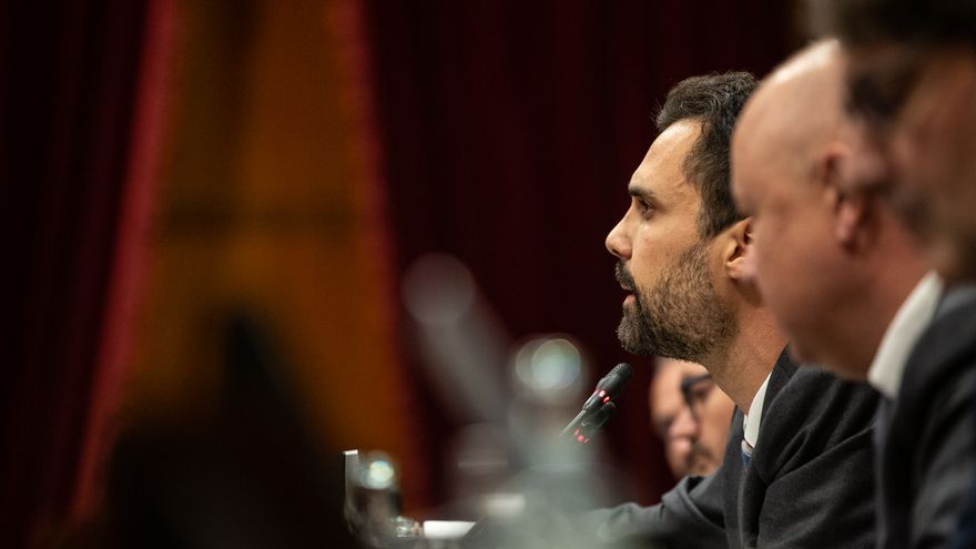 El presidente del Parlament de Catalunya, Roger Torrent, durante el debate sobre política general.