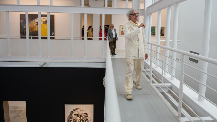 Pepe Dámaso, en la presentación de la retrospectiva de sus obras en el CAAM.