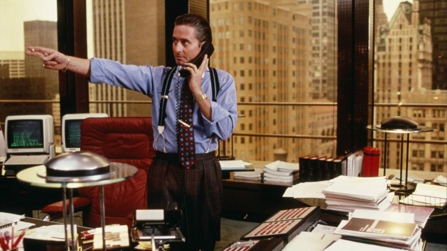 Michael Douglas como Gordon Gekko en Wall Street
