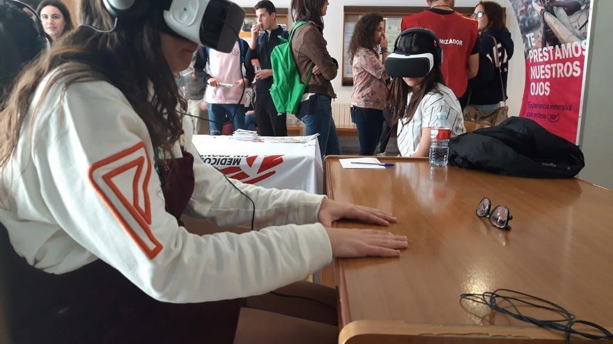 Realidad virtual para ponerse en la piel de desplazados por conflictos en el Campus de Ciudad Real