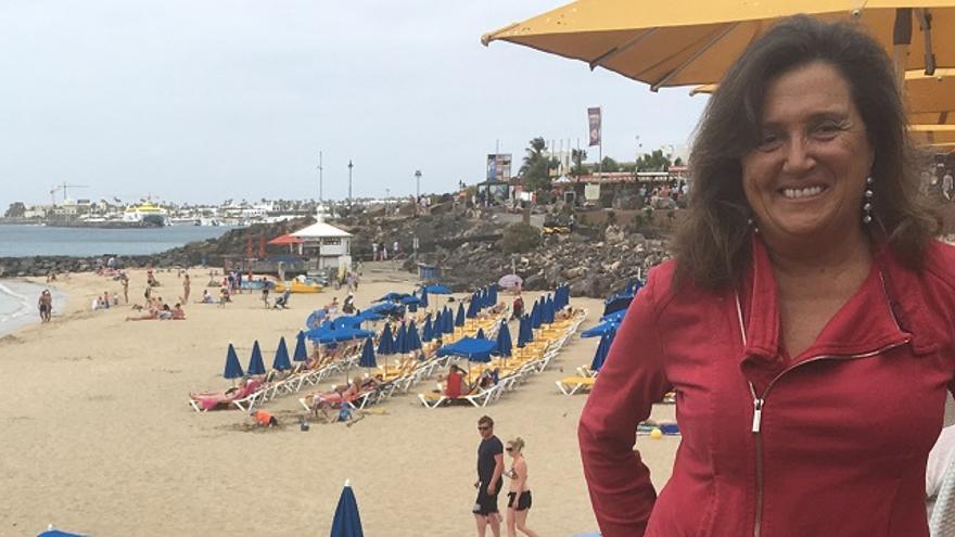 La candidata de Ciudadanos al Senado por Lanzarote, María Moreira
