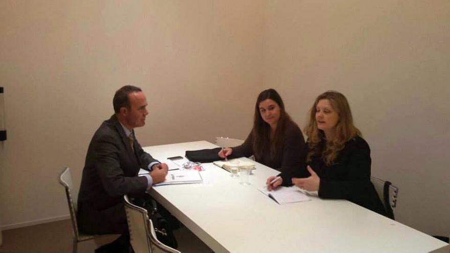 En la imagen, Raúl Camacho en una de las reuniones celebradas en Madrid durante la feria de Fitur.