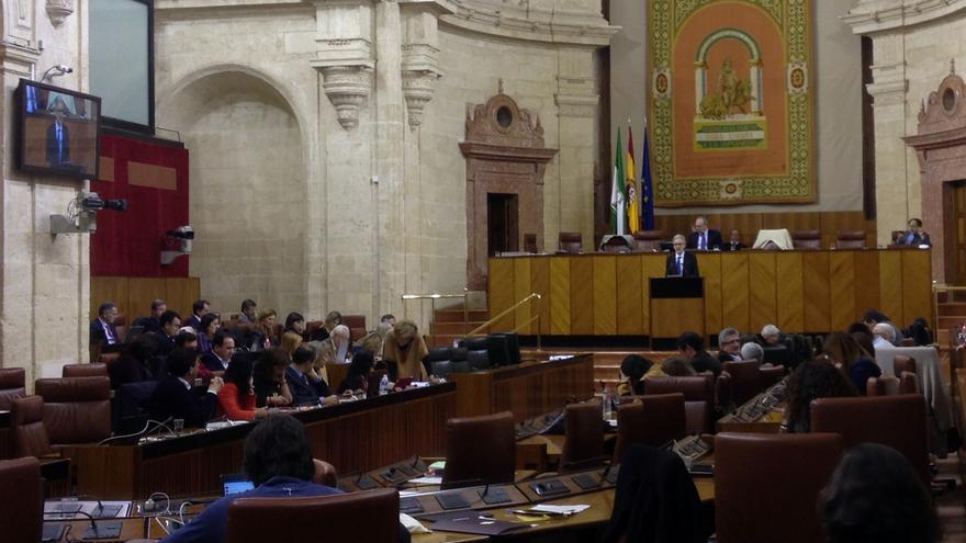 Pleno del Parlamento de Andalucía de marzo de 2016.