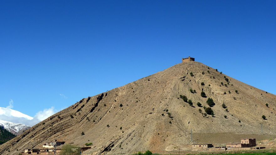 El granero colectivo de Sidi Moussa se encuentra en la cima de una colina de difícil acceso. Pascal Blachier
