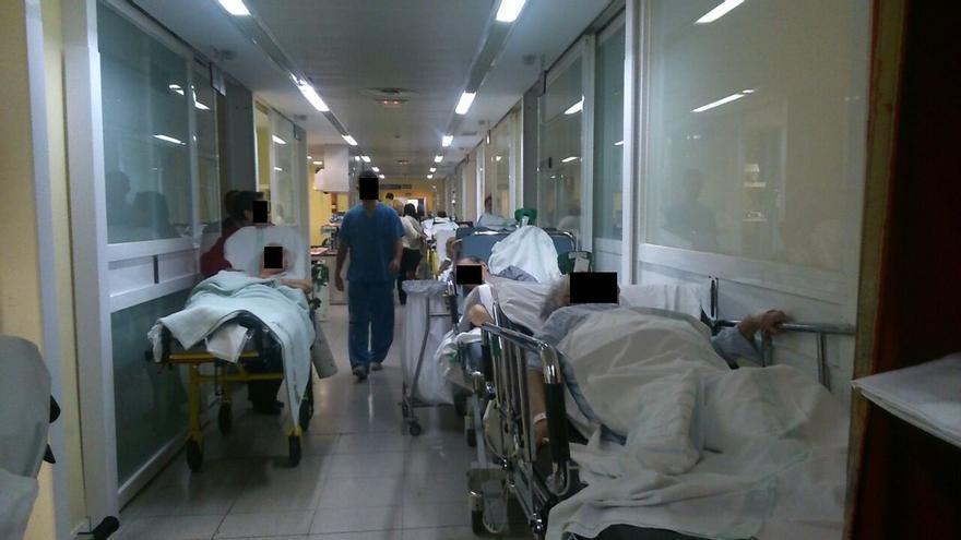 Estado de los pasillos del hospital de Toledo, 13/1/15