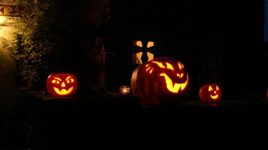 Halloween. Calabazas de Halloween. Se aproxima el Día de los ...