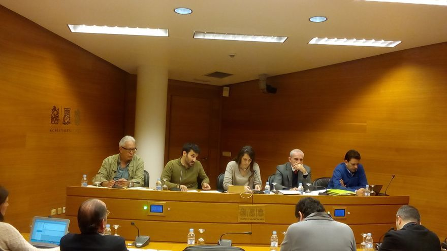 El conseller Vicent Marzà durante su comparecencia a petición del PSPV