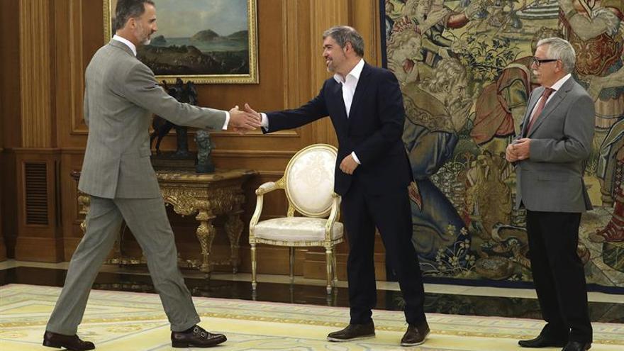 Sordo expone al Rey la posición de CCOO sobre la situación del empleo en España