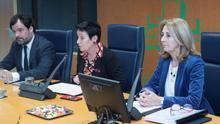 Carmen Adán, en el Parlamento Vasco
