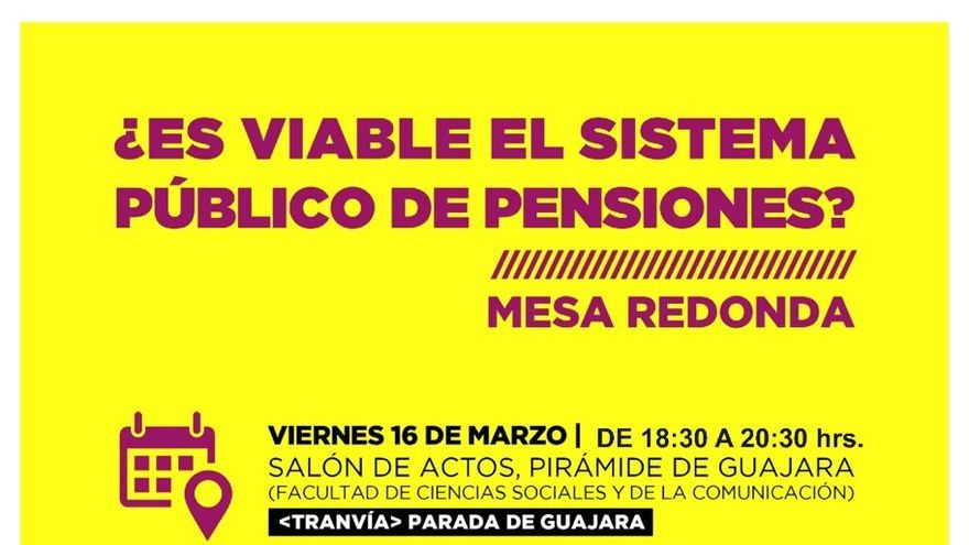 Cartel que anuncia la actividad en la Pirámide de Guajara este viernes