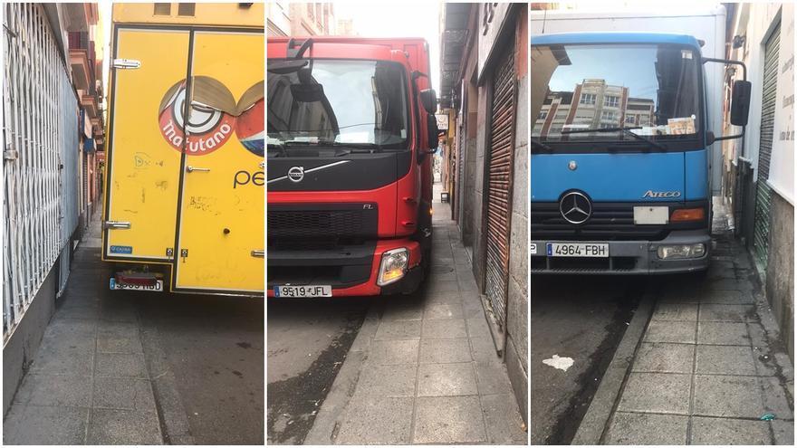 Camiones de reparto invaden a diario las aceras de la calle Noviciado | SOMOS MALASAÑA