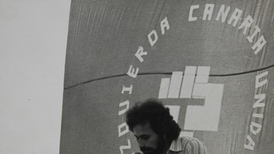 Mitin de la plataforma electoral ICU, 1977.