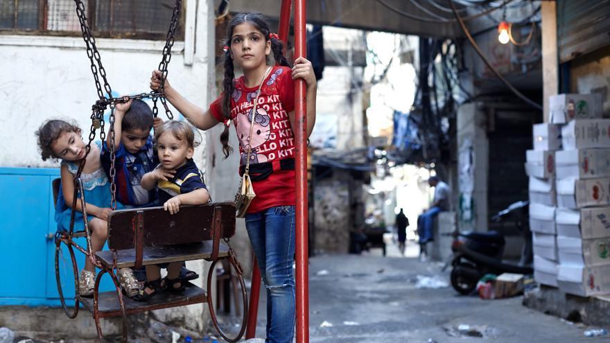 Rahaf y otros niños sirios que han huido de su país