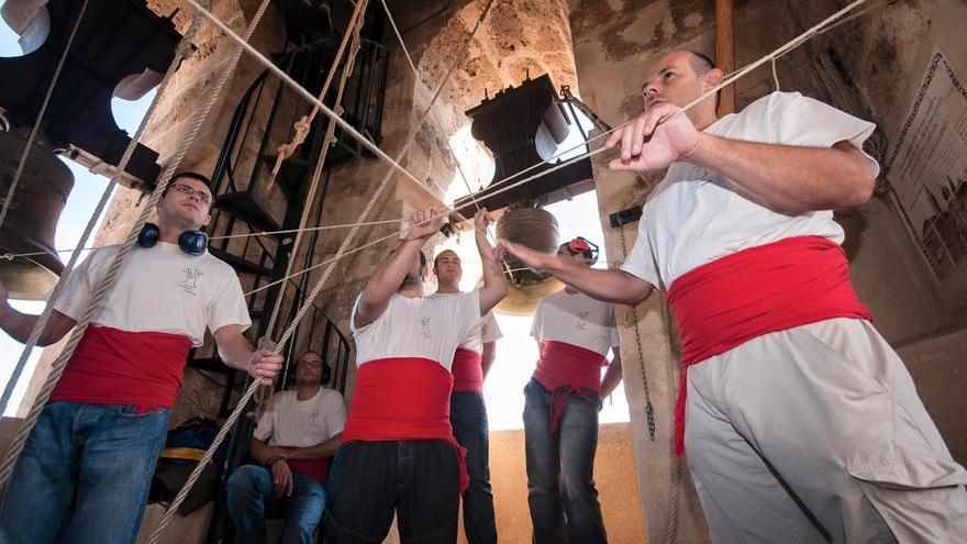 Campaners d'Albaida en plena actuación